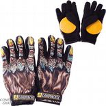 "LANDYACHTZ ""Werewolf"" Slide Gloves w/ Pucks SALE XL only Longboard Freeride Yellow / Black"